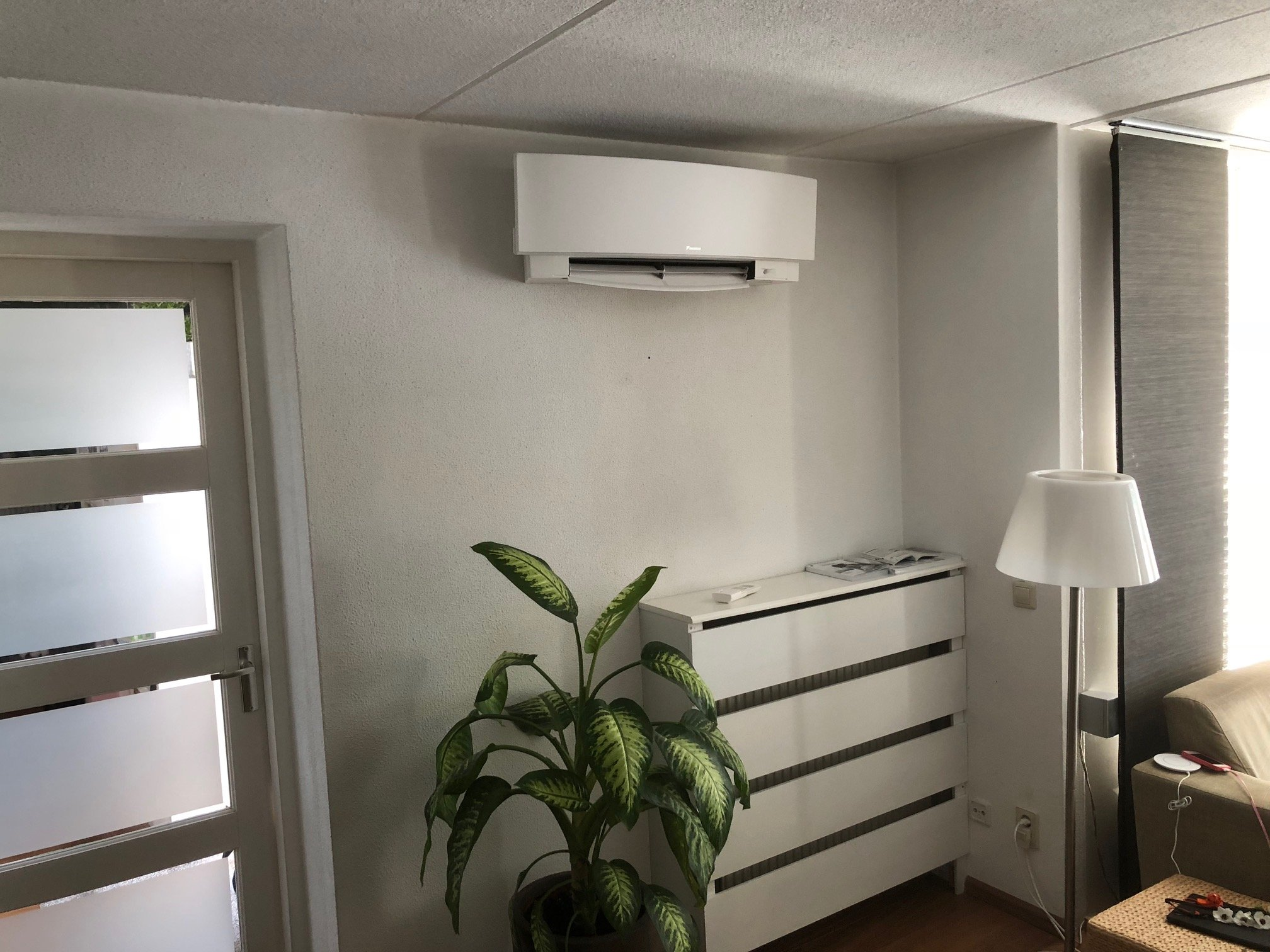 Airconditioning in woonkamer